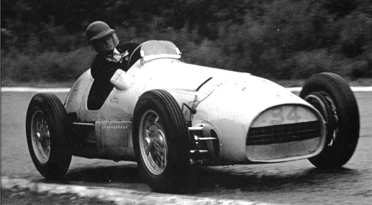 Charles De Tornaco at his first F1 race at Spa 1952 finishing 7th.