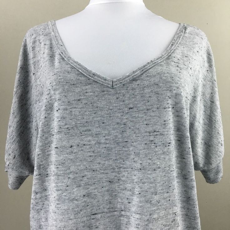 Ninety Three Women's Grey Shirt Large Soft Top | eBay
