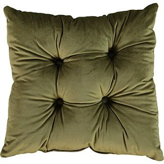 Style Furnishings Olive Green Seat Pad 42x42cm