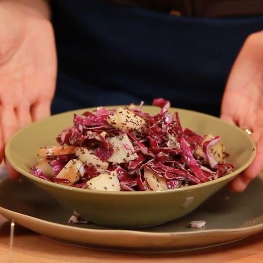 Cabbage has long been hailed as a cancer-fighting vegetable. Try it in this sweet and crunchy salad.