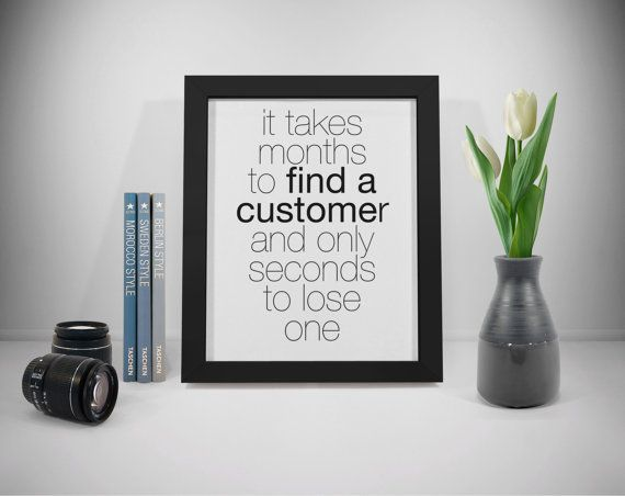 Customer Quotes Business Printable Sales Quotes Wall Art