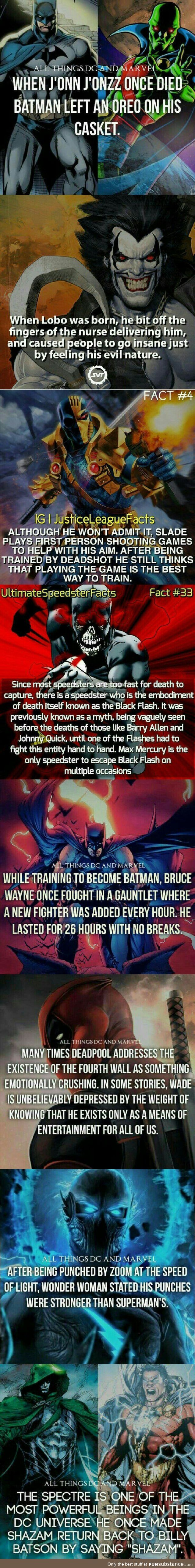 Marvel & DC facts comp