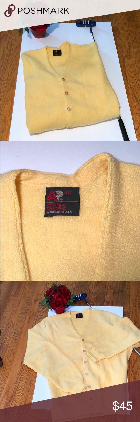 Arnold Palmer Golf Cardigan Arnold Palmer golf cardigan. A classic sport piece. Excellent condition. 🏌🏽♂️🏌🏽♂️🏌🏽♂️100% Wool Arnold Palmer Sweaters Cardigan