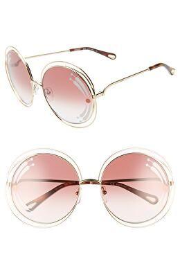 5d53396ea32a CHLOÉ Designer Carlina 62mm Oversize Round Sunglasses