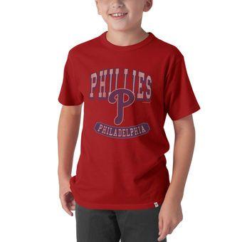 Youth Philadelphia Phillies '47 Red Flanker T-Shirt