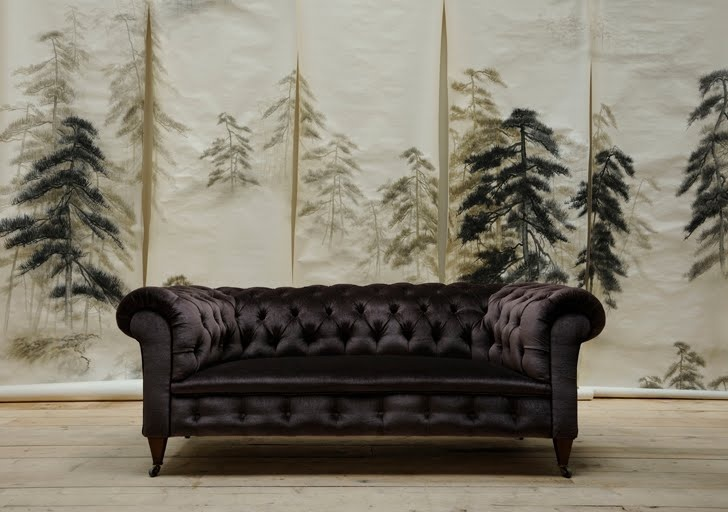 Bruno Triplet Silk Mohair Chesterfield And De Gournay