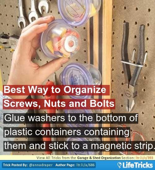 Garage Shed Organization Best Way To Organize Screws