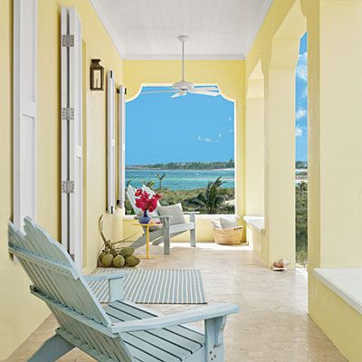 Pale Yellow Porch - Bright and Colorful Rooms - Coastal Living