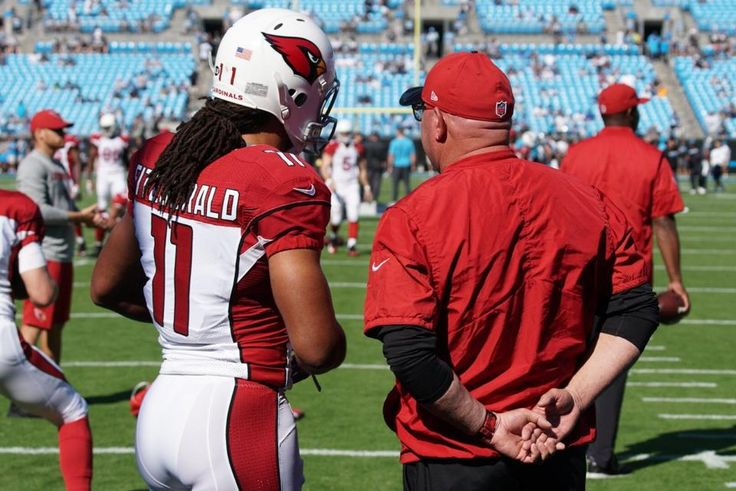 Cardinals vs. Panthers:    October 30, 2016  -  30-20, Panthers  -   WR Larry Fitzgerald and head coach Bruce Arians