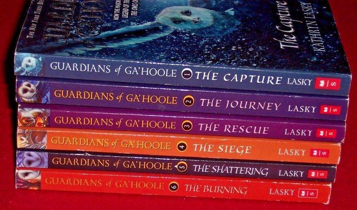 6 Guardians of Ga'Hoole Series Starter Set 1-6 Kathryn Lasky Level 4 Ages 8-12