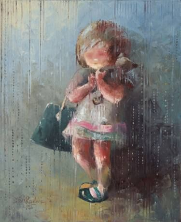 "Saatchi Art Artist Anna Ravliuc; Painting, ""Little Lady"" #art"