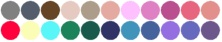 Your Best Colors are:  Grey, slate grey, cocoa, light desert sand, khaki, powder pink, rose pink, rose, red-violet, coral pink, clear salmon, clear red, light lemon yellow, light aqua, sea green, spruce, navy, sky blue, steel blue, lavender, periwinkle, dusty purple