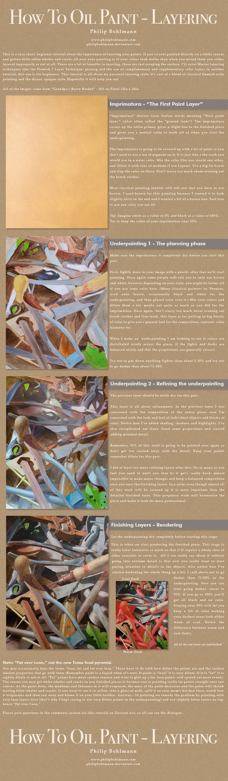 How to Oil Paint - Layering by PhilipBohlmann.deviantart.com on @deviantART