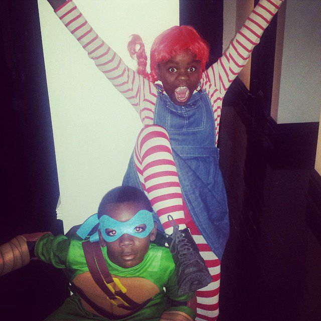 Pin for Later: These Celeb Kids Had the Best Halloween Ever  Madonna's kids, David and Mercy, looked great as Leonardo from Teenage Mutant Ninja Turtles and Pippi Longstocking, respectively.