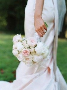 Peony and ranunculus (I've been wanting to know the name of this flower) wedding bouquets
