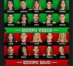Combate argentina equipos rojo y verde