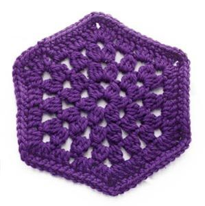 Granny Stitch Hexagon :: Featured in a Roundup of Free Crochet Hexagon Patterns on Moogly!!
