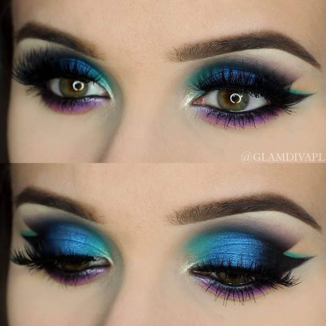 ... Peacock Makeup on Pinterest : Peacock hair, Makeup and Peacock eye