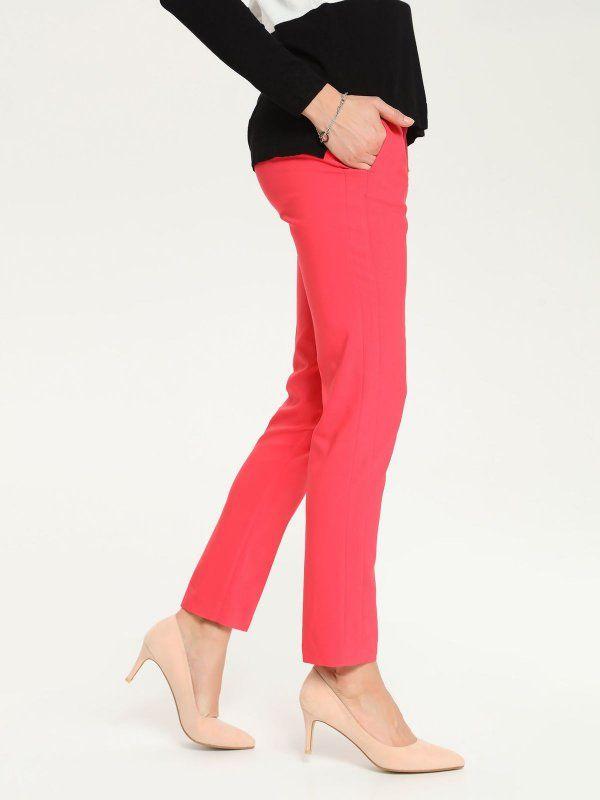 W2017 spodnie długie damskie  różowe - SSP2167 TOP SECRET