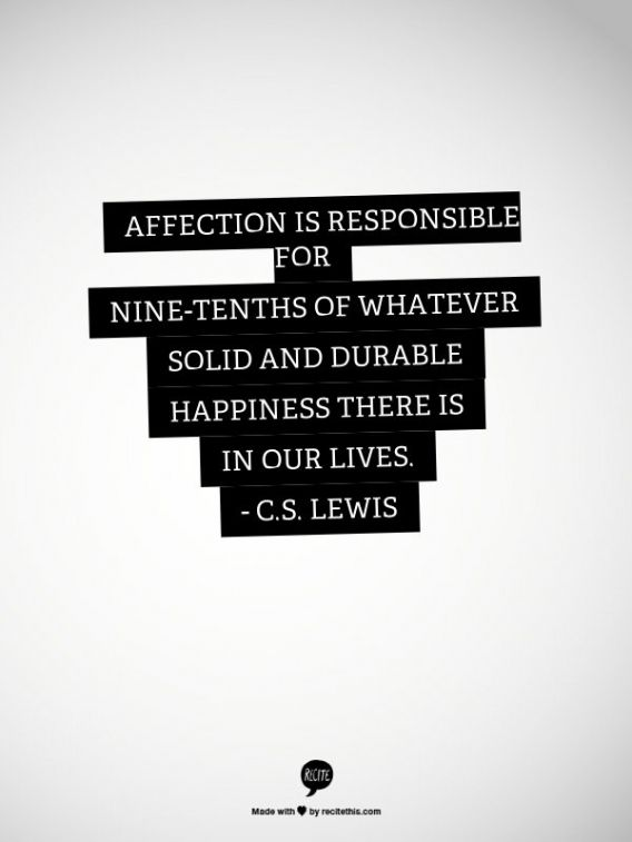 cs lewis quote affection