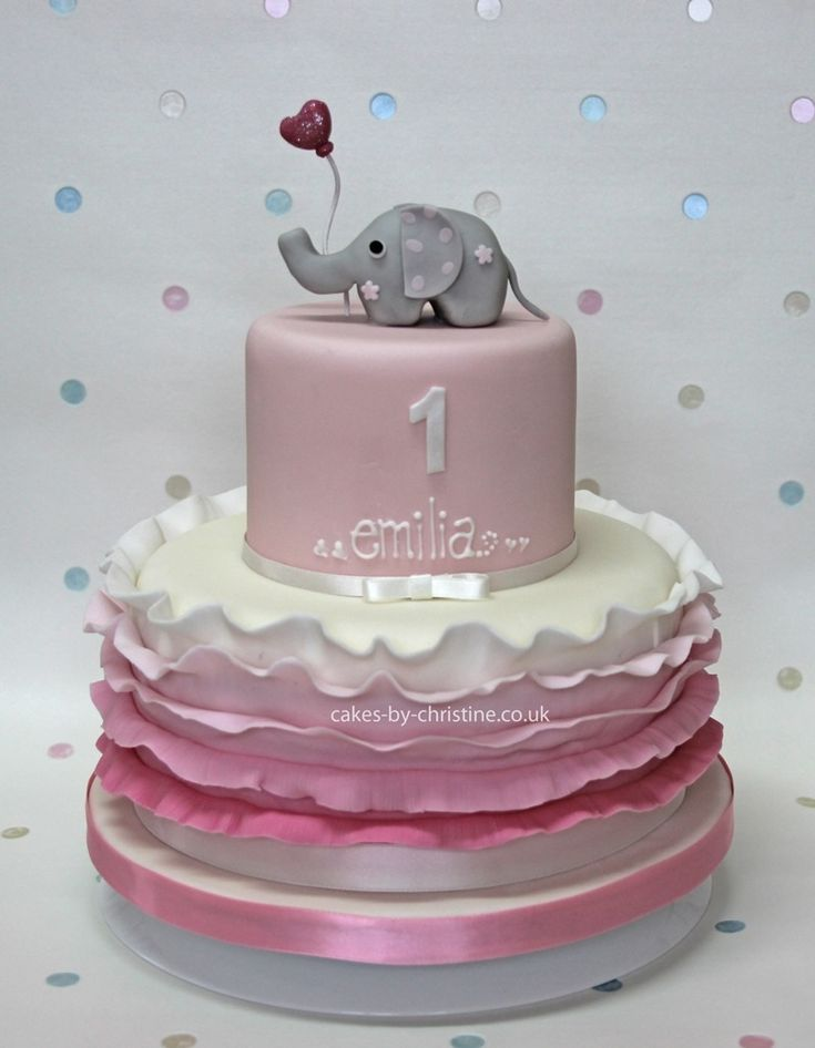 little girls birthday cakes | ... and ruffles birthday cake for a little girl | Cakes by Christine
