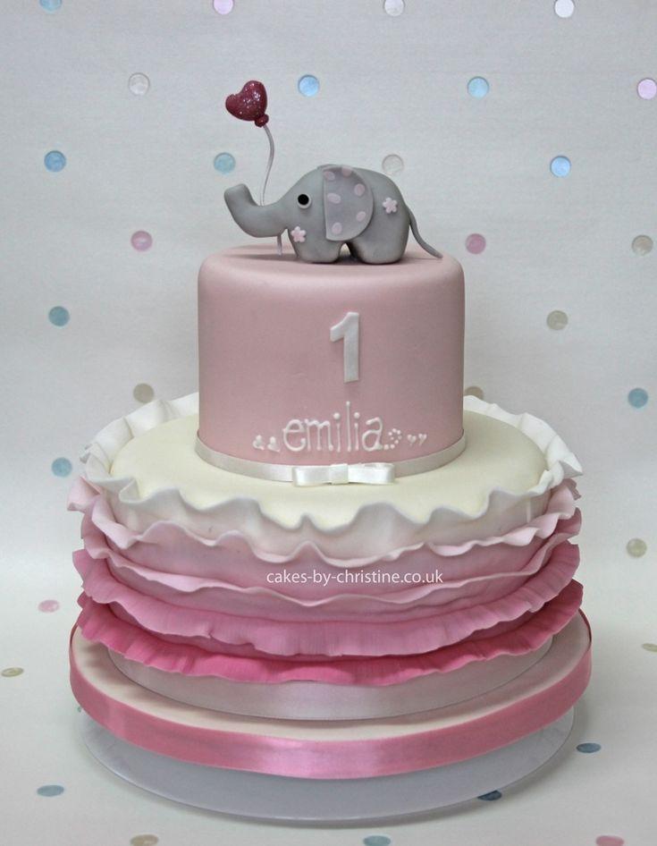 little girls birthday cakes   ... and ruffles birthday cake for a little girl   Cakes by Christine