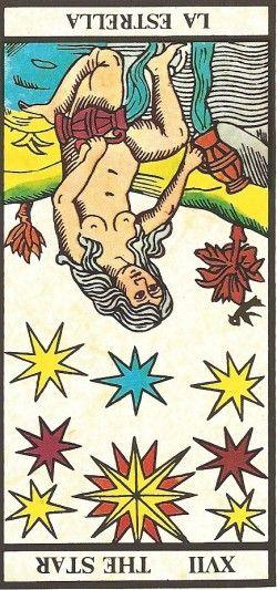 Arcano XVII - A Estrela invertida Carta Tarot para 12-11-2014 Hoje o dia pode começar meio sem energia, com alguma preguiça e ir melhorando ao longo do dia