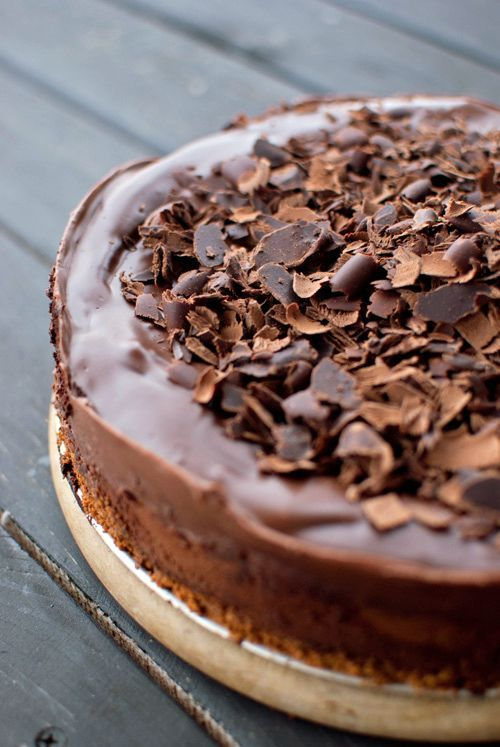 Chocolate Cheesecake. I accidentally left the sugar out of this recipe, made it super chocolatey. Amazing!