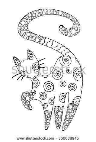 Cat Coloring Stock Vectors & Vector Clip Art | Shutterstock