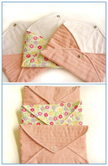 Three quilted envelopes - just like paper envelopes