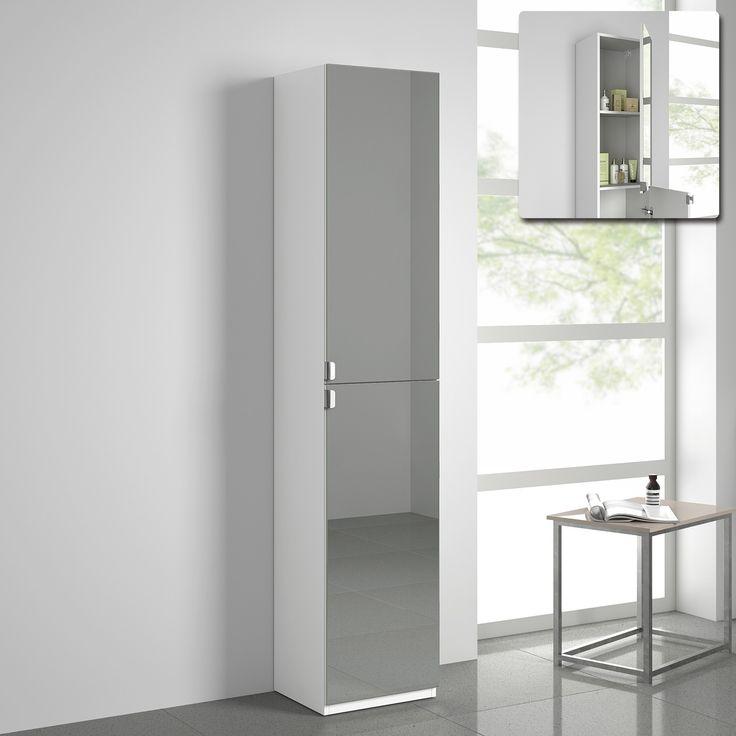 Floor Standing Bathroom Mirror Cabinets