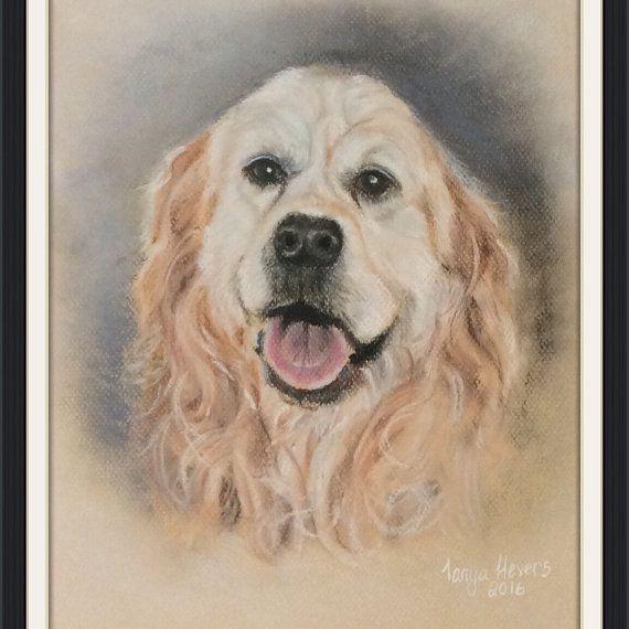 Custom Pet portrait A3 soft pastels and pastel pencils - sample