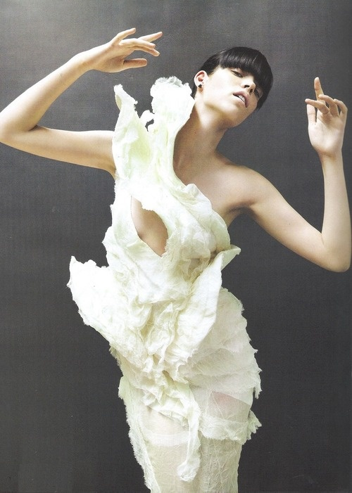 The New Beat Of Couture,Meghan Collison in Nina Ricci, Fall 2007 by Daniel Jackson for Vogue Nippon, December 2007
