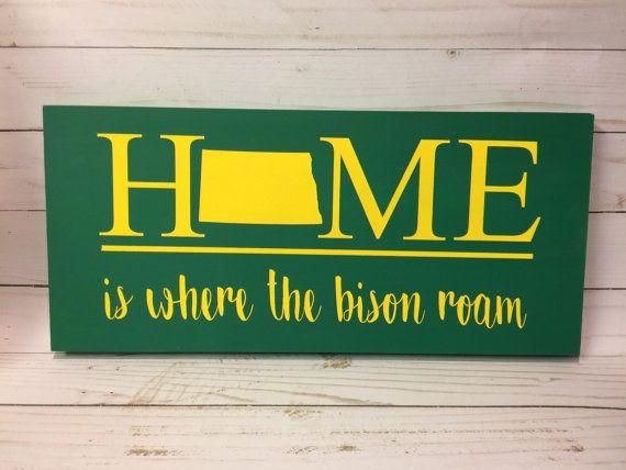 NDSU Bison North Dakota Home Sign by FargoMadeCrafts on Etsy