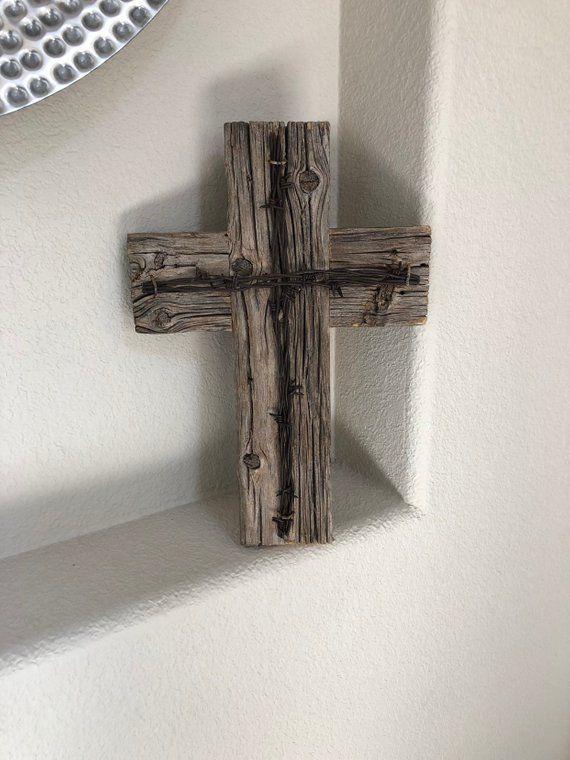 Barn Wood Cross Rustic Wooden Wall Decorative