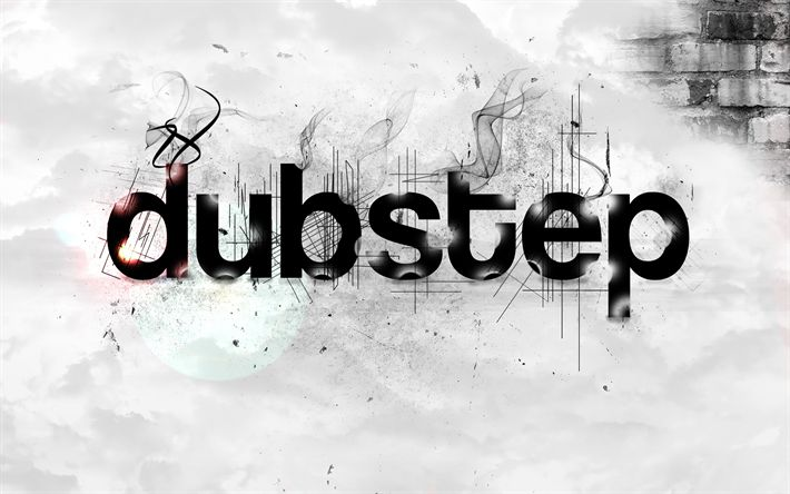 Download wallpapers Dubstep, grunge, creative, art, gray background