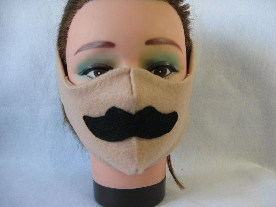 Chill Out Fleece Winter Face Mask mustache by Aluminumguy on Etsy, $11.99