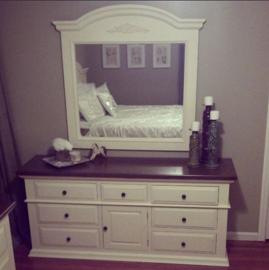 DIY: Two Tone Dresser Makeover!