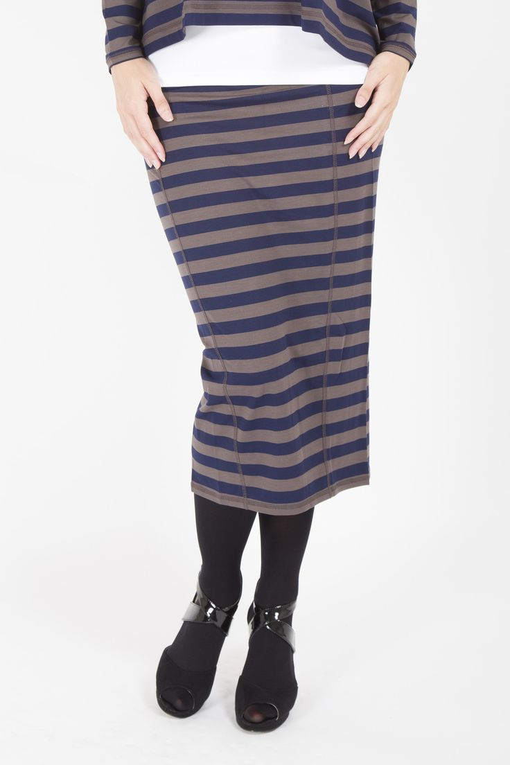 MASAI STRIPE FITTED SKIRT