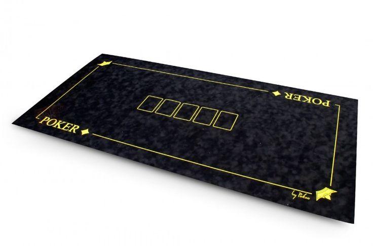 """Tapis en suédine Texas Poker 120x60 (noir) - Pokeo.fr - Tapis de poker """"Texas Poker"""" 120x60cm en suédine bulgommée de couleur bleue. Exclusivité Pokeo !"""