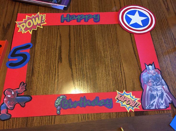 Super hero Photo booth frame