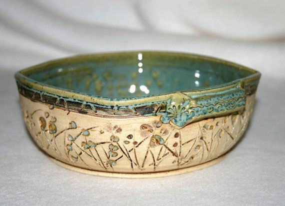 Handmade Pottery Bowl / Brie Baker / Serving by VirginiaRoseStudio, $18.00