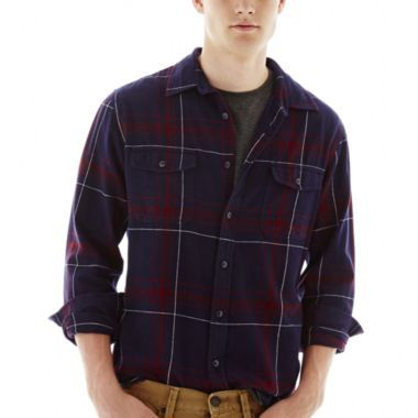 Arizona Long-Sleeve Flannel Shirt  found at @JCPenney