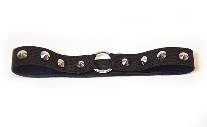 Black Elastic Studded Ring Cone Garter by Pornoromantic on Etsy
