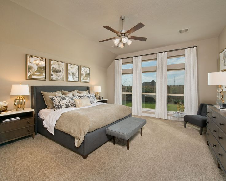 """Kick back & put your feet up after a long work day in the beautiful bedroom of """"Design 2738"""" by Perry Homes. Tour the floor plan and more. #ElysonHomes2,738 sq. ft 