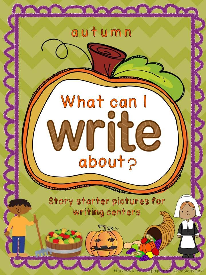 Story starter pictures for autumn writing centers