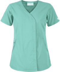 Butter-Soft Scrubs by UA; Snap Front Scrub Top I like this in royal and fuscia.