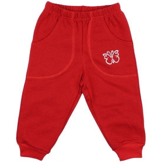 Pantaloni trening groși roșii cu buzunar imprimeu fluturaș de la http://magazin.liloo.ro