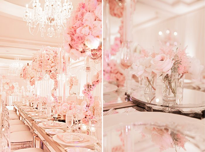 Blush pink wedding colors for @Affluent Goods. These pale colors are gorgeous... Romantic and elegant.