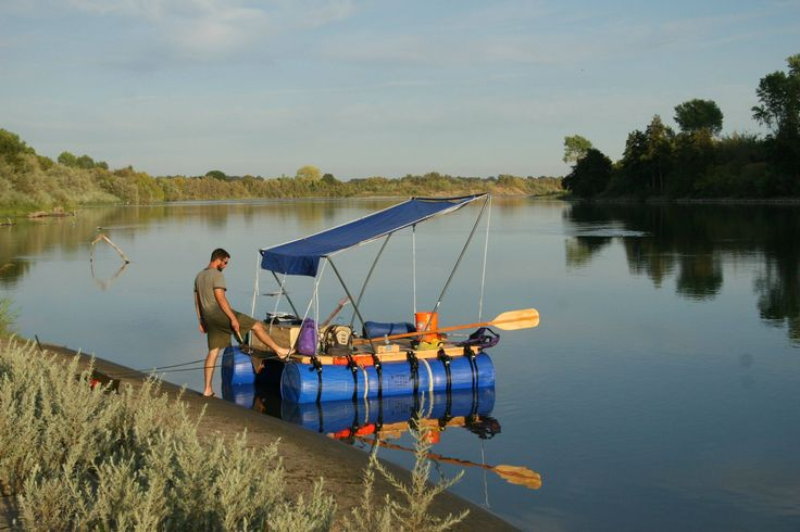 In the Summer of 2008, My buddy and I built a raft out of wood and plastic barrels and traveled 187 miles down the Sacramento River.